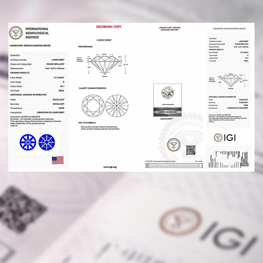 IGI國際鑽石證書